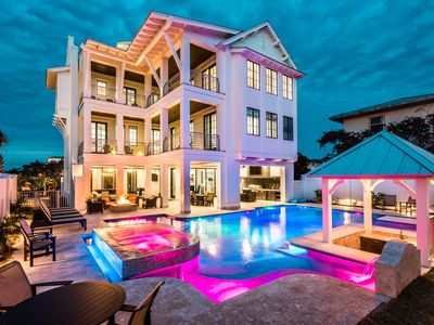 Photo for Largest Private Pool on 30A! Gulf Views! Steps to the beach!