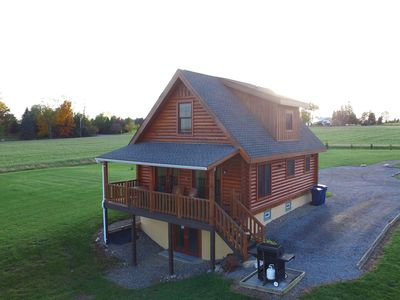 Photo for A Real Deluxe Log Home in the Finger Lakes Overlooking Seneca Lake