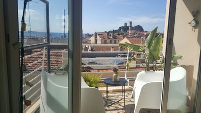 Photo for Cannes center, 2 rooms in a quiet and panoramic view