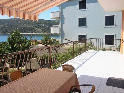 Photo for Three bedroom apartment with terrace and sea view Marina (Trogir)
