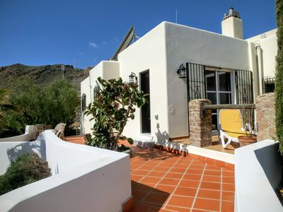 Photo for Chalet with a private pool, terraces, garden and view of the sea and mountain.
