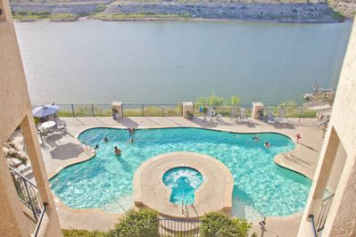 One of the 2 outdoor pools and hot tubs.