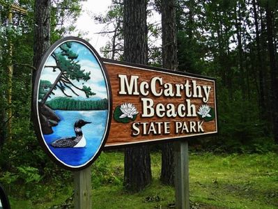 McCarthy Beach State Park - Walking distance by both beach and road.