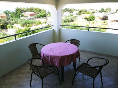 Photo for Studio flat with terrace and sea view Vrsi - Mulo, Zadar (AS-14250-a)
