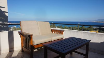 Photo for Penthouse In Kyrenia town, Large Rooftop Terrace, stunning sea views, pool