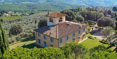 Photo for Florentine Estate-  8bd historic villa with views, pool, al fresco dining near Florence