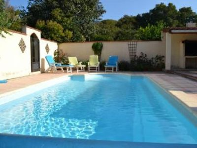 Photo for Sunny villa with pool near the sea and mountains