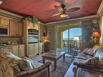 Photo for San Remo 205 - Comfortable Gulf Front Living, 30A, Community Pool, Hot Tub, Gym!