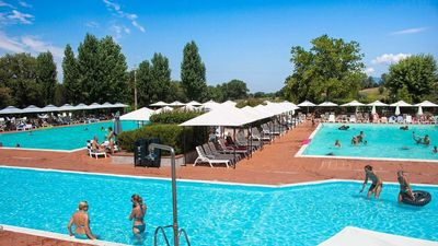 Photo for Luxe sanitary XL 6 pers Villatent at  La Chiocciola in Tuscany