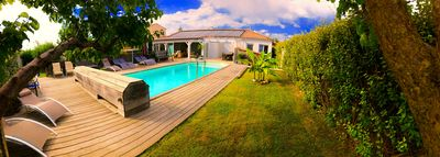 Photo for Peaceful APPART 55 m² 2 BED in VILLA Large fitted pool 2 Loggia terraces