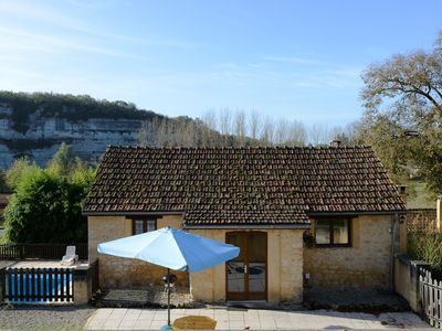 Photo for The Haybarn - private terrace, pool, views, walk to bakery & restaurant