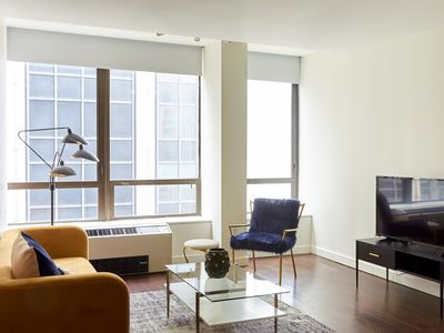 Photo for Sonder | 95 Wall | Sun-Filled 1BR + Gym