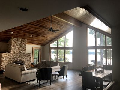 Photo for Luxury Lake Michigamme Beach house