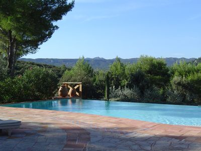 Photo for Traditional country house, with magnificent view and infinity swimming pool