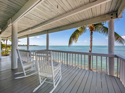 Photo for NEW LISTING! Incredible oceanfront home on large lot w/bar, dock & amazing views