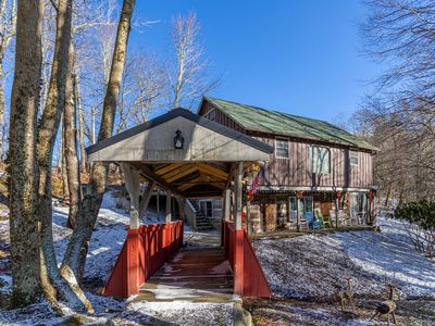 Photo for Covered Bridge Cabin - A unique, rustic get-away between Banner Elk and Beech Mountain.