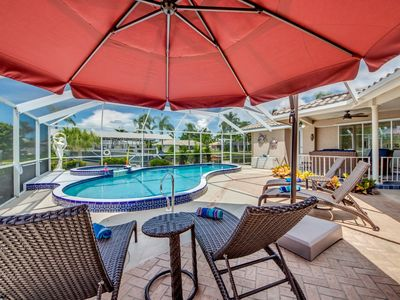 Photo for Direct Gulf Access, Spa and Heated Pool - Villa Poseidon's Passage- Cape Coral