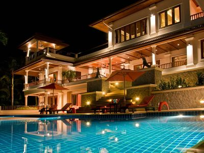 Photo for Large Luxury 6 Bed Pool Villa sleeps 13 with daily maid service nr Layan Beach