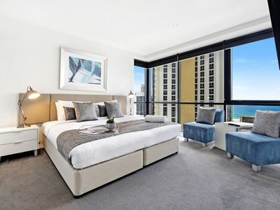 Photo for Circle on Cavill - 3 Bedroom Ocean - 3 Night - 2201 - Ocean view apartment good for 8 pax