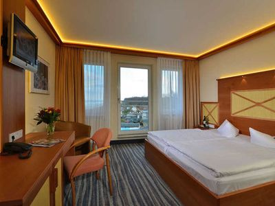 Photo for Standard Double Room with Roof Terrace - Strandhotel Seerose Kölpinsee