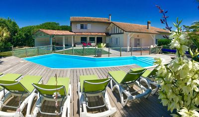 """Photo for Villa """"la Belle Océane"""" Beach 200 meters away ! with private heated pool !"""