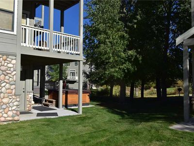 Photo for Private Hot Tub, 3 Decks, Mountain Views, End Unit Full of Light, 2 Car Garage, Gas Fireplace