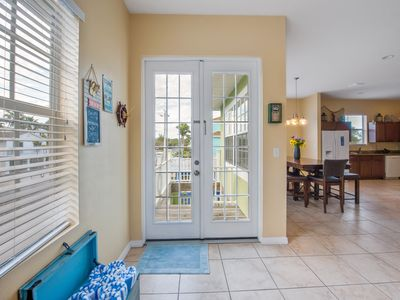 Photo for Spacious, private home steps from beach  with pool, hot tub and outdoor kitchen!