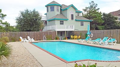 Photo for OCEANSIDE- 4 BRs (2 Masters), Private Saltwater Pool, Hot Tub, Ships Watch!!!