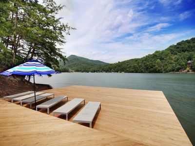 Photo for Lake Lure waterfront at Rumbling Bald with docks, views and use of amenities