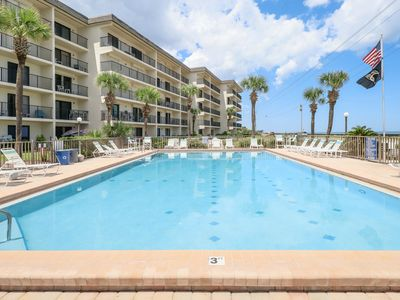 Photo for NEW LISTING! Oceanfront condo w/ easy beach access, sundeck & pool with a view!