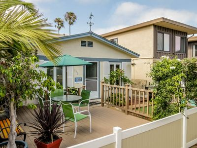 Photo for Relaxing beach cottage w/fenced-in patio & BBQ set. Just blocks from boardwalk!