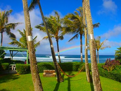 Stunning views at the Sunset Shack North Shore ocean/beach front home (30 nts)