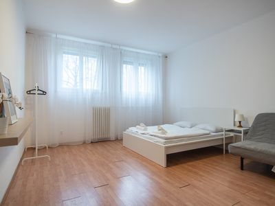 Photo for Riverside Apartment for 6 in the Centre of Prague by easyBNB