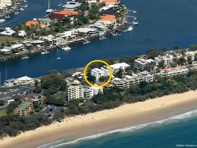 Photo for Spacious 2 Bedroom Apartment on Mooloolaba Spit, Parkyn Parade, Pago Pago Apartments