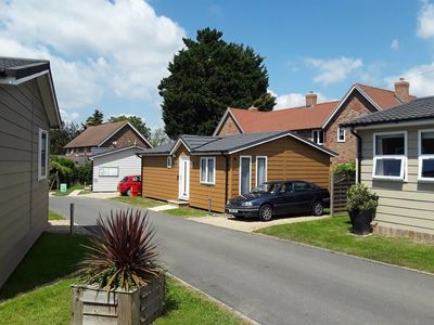 Photo for Luxury park lodge home on main A22 road