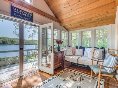Photo for Cottage on an idyllic freshwater pond