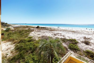Balcony View -  Gulf Dunes 214 Fort Walton Beach Okaloosa Island Vacation Rentals