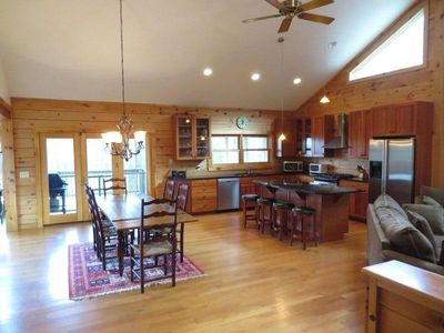 Photo for Beautiful Private Log Home Close To Great Barrington And Ski Areas