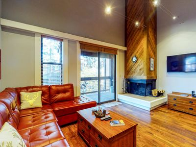 Photo for Beautiful, dog-friendly condo w/ shared pool & hot tub - walk to the slopes