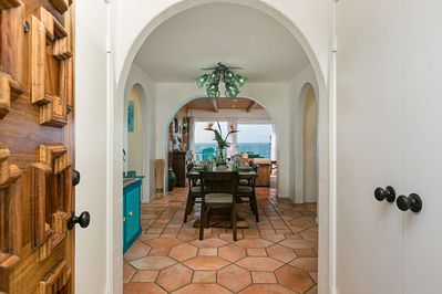 Entry from the backyard to your home away from home