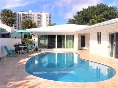 Photo for Go First Class at our Stunning Lauderdale Beachside Pool Home