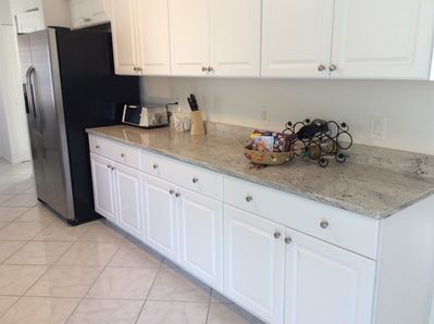 Lots of cabinets & counters