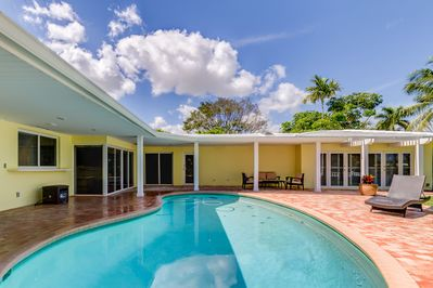 Retreat to paradise at this 4BR, 3-bath vacation rental home in Fort Lauderdale.