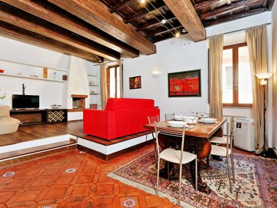 Photo for Rome, Trastevere, in a quiet and silent street, apartment for 4