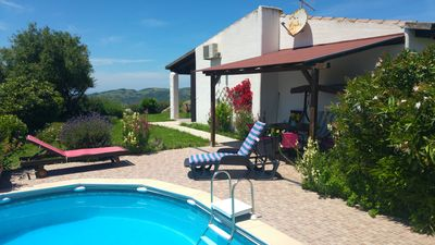 Photo for Su Acchile villa in the countryside with pool near to sea