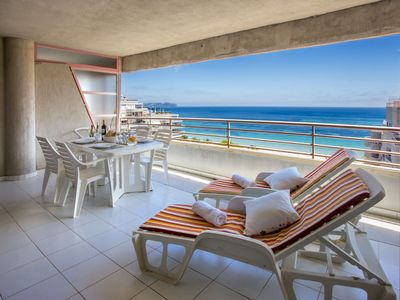 Photo for Apartment in beachfront with sea and pool