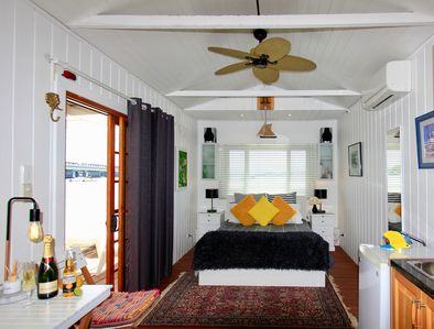 Boatshed luxury, perfect for a romantic getaway.