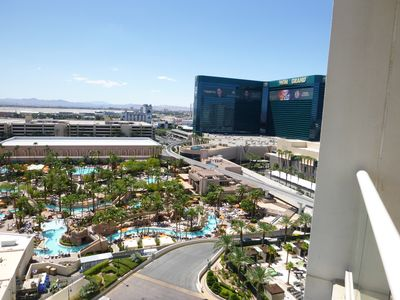 The view from your balcony.  MGM pool