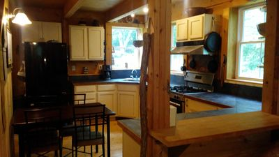Photo for Beautiful house on 2.5 wooded acres just 2 miles from Lambert's Cove Beach!