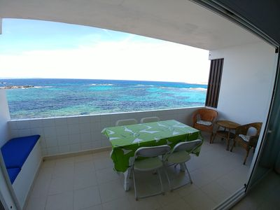 Photo for Es Pujols: Holiday Apartment on the Seafront of Es Pujols with stunning views